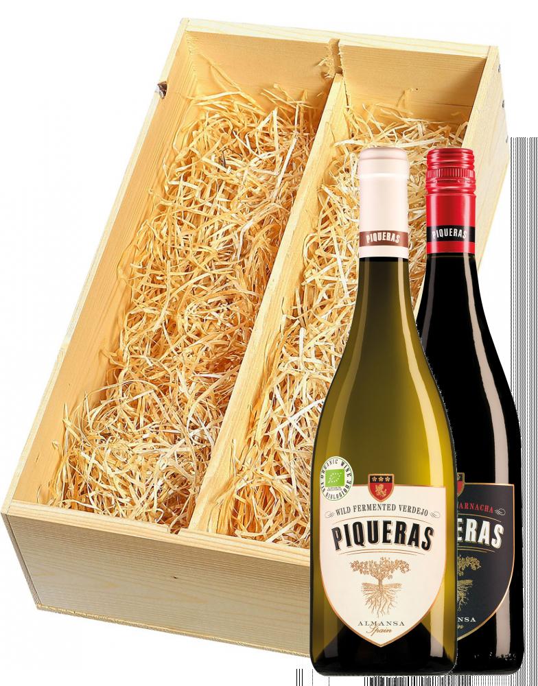Wijnkist met Bodegas Piqueras Almansa Black Label Old Vine Garnacha en Wild Fermented Verdejo