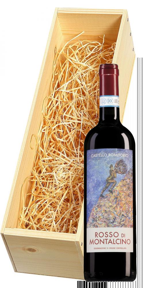 Wijnkist met Castello Romitorio Rosso di Montalcino