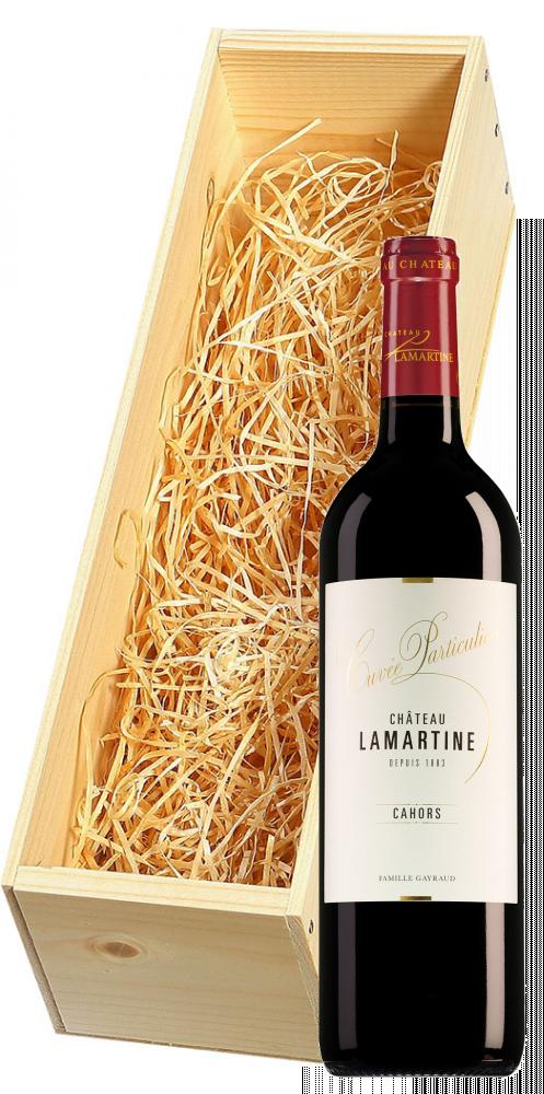 Wijnkist met Château Lamartine Cahors Cuvée Particulière