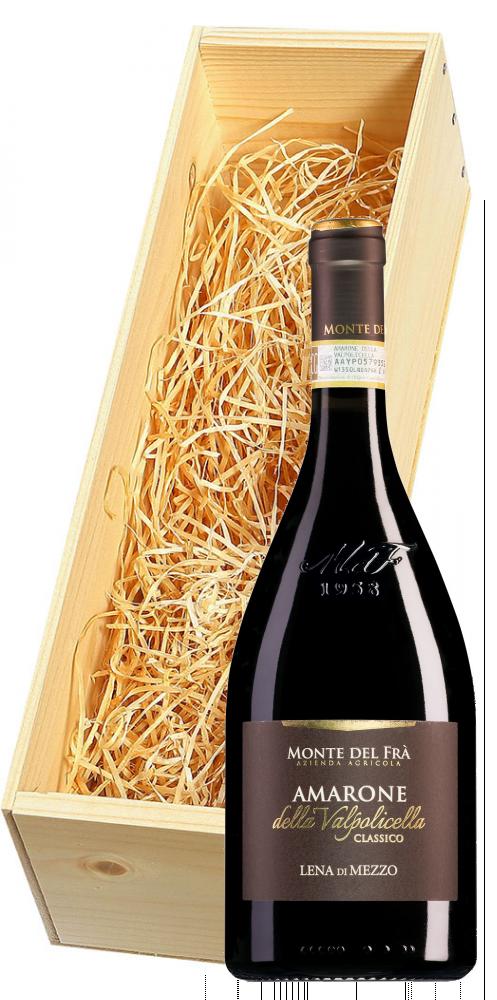 Wijnkist met Monte del Frà Lena di Mezzo Amarone della Valpolicella Classico