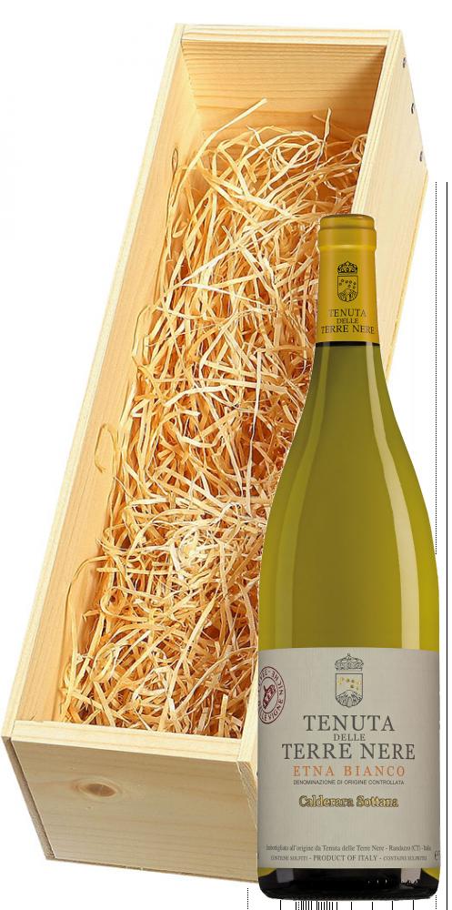 Wijnkist met Tenuta delle Terre Nere Etna Bianco Calderara Sottana