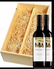 Wijnkist met 2 Cantine Due Palme Negroamaro del Salento Domiziano