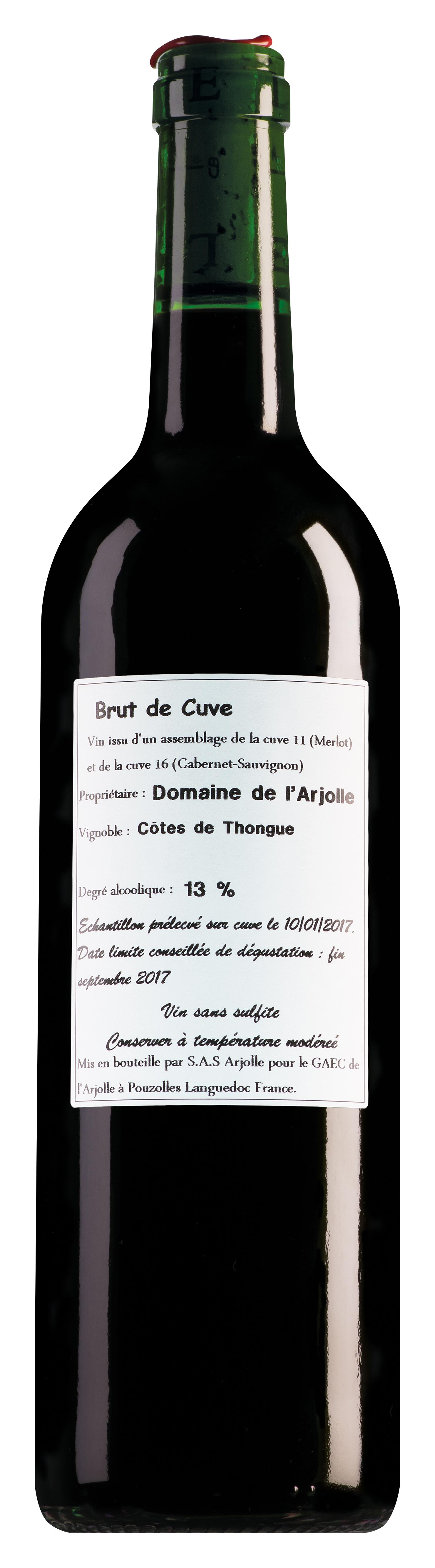 Domaine de l'Arjolle Côtes de Thongue Merlot-Cabernet Sauvignon Brut de Cuve