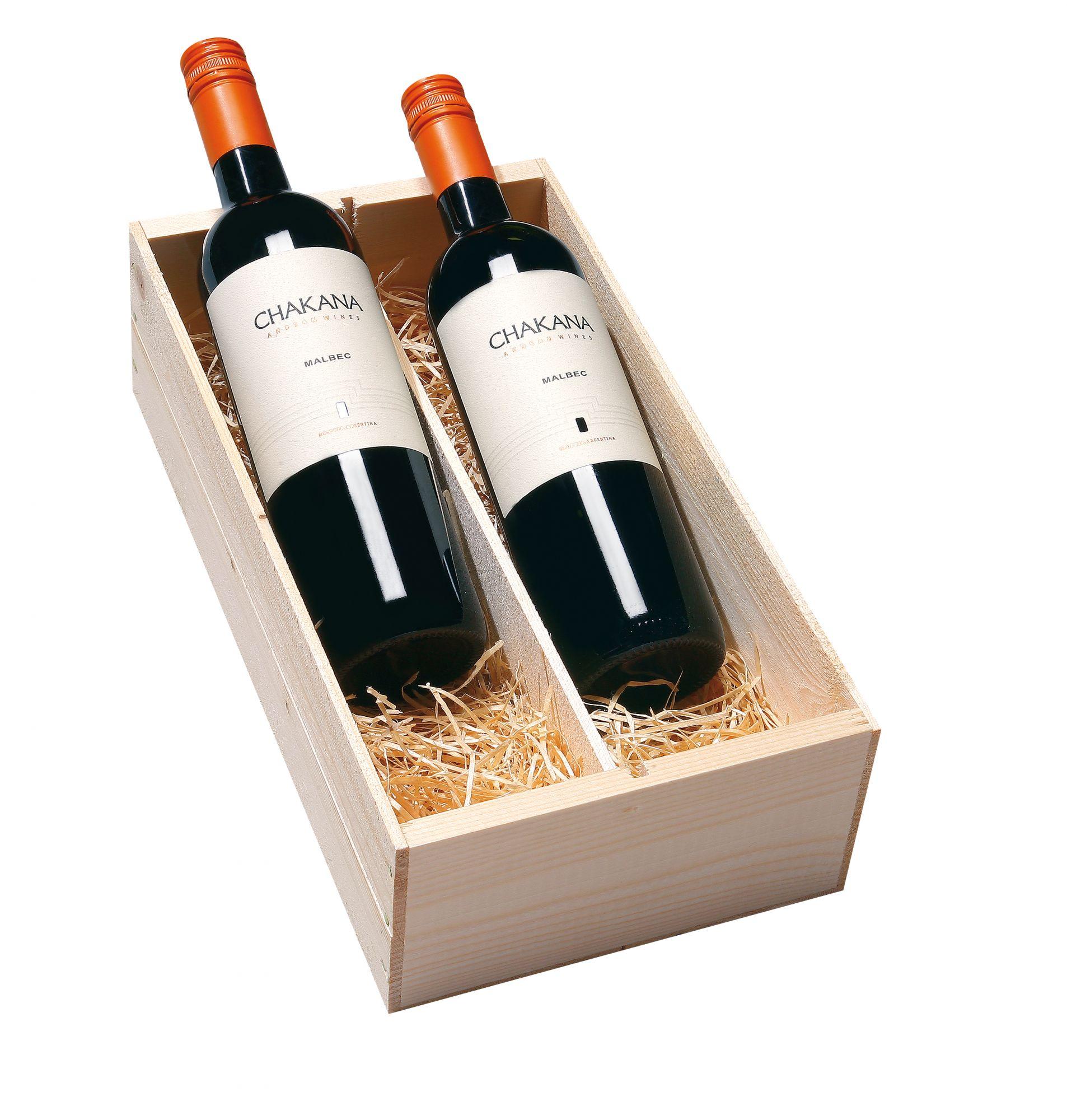 Wijnkist met 2 Chakana Mendoza Malbec