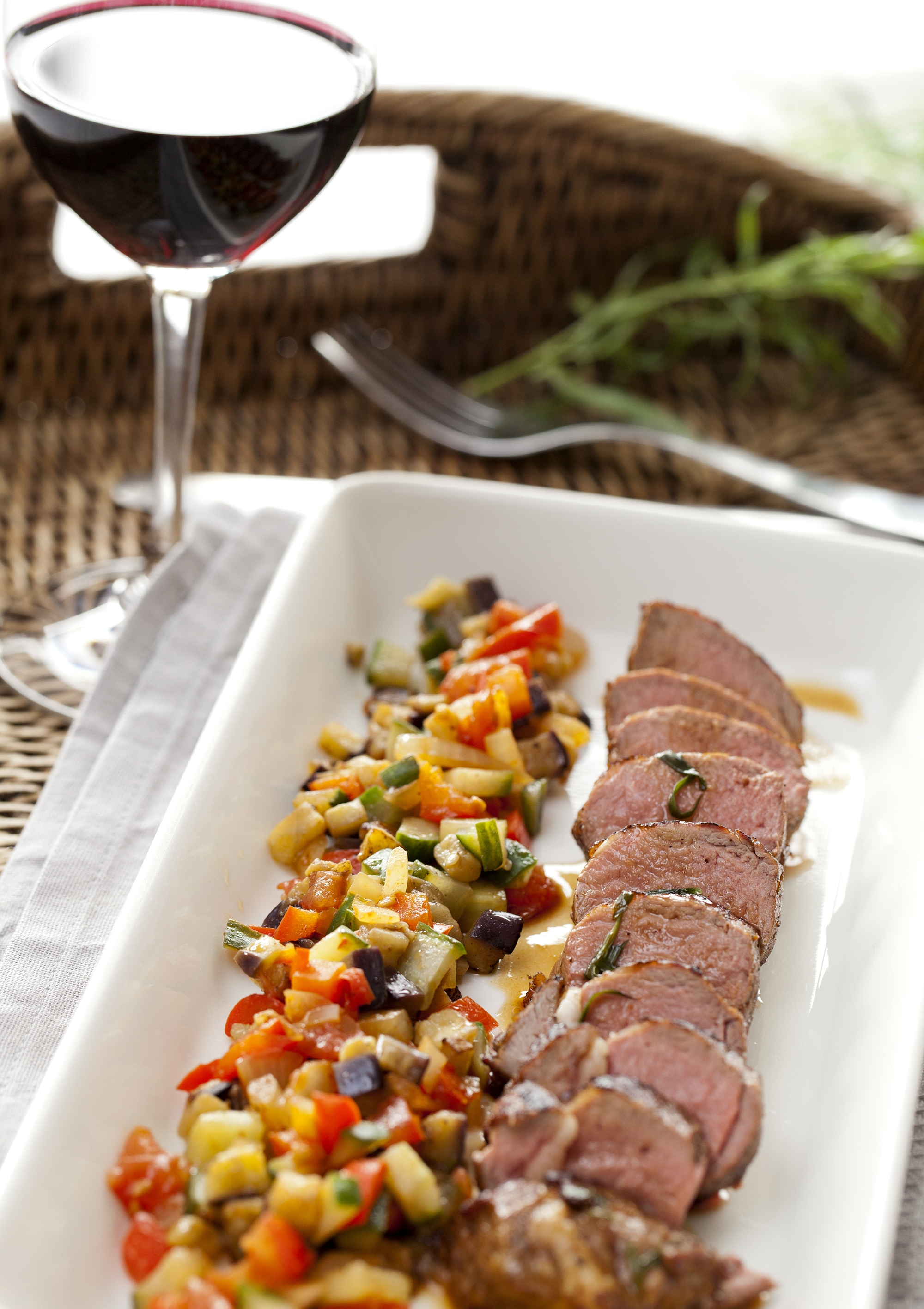 Lamsfilet met ratatouille