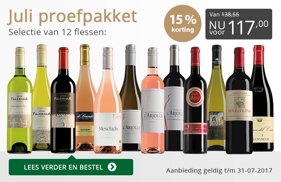 Proefpakket wijnbericht juli 2017 (117,00) - grijs/goud