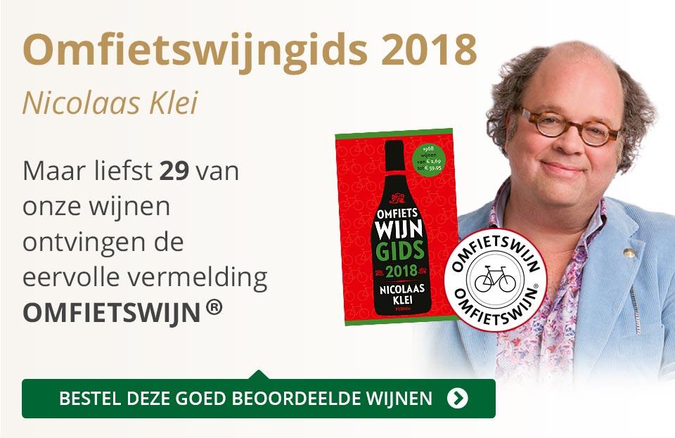 Omfietswijngids 2018 - grijs/goud