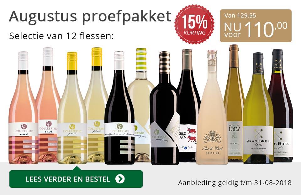 Proefpakket wijnbericht augustus 2018 (110,00) - grijs/goud