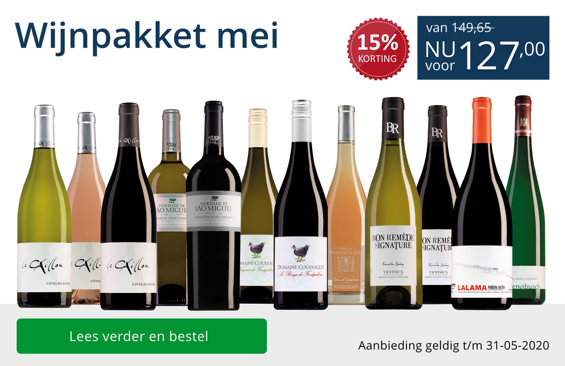 Wijnpakket wijnbericht mei 2020 (127,00) - blauw