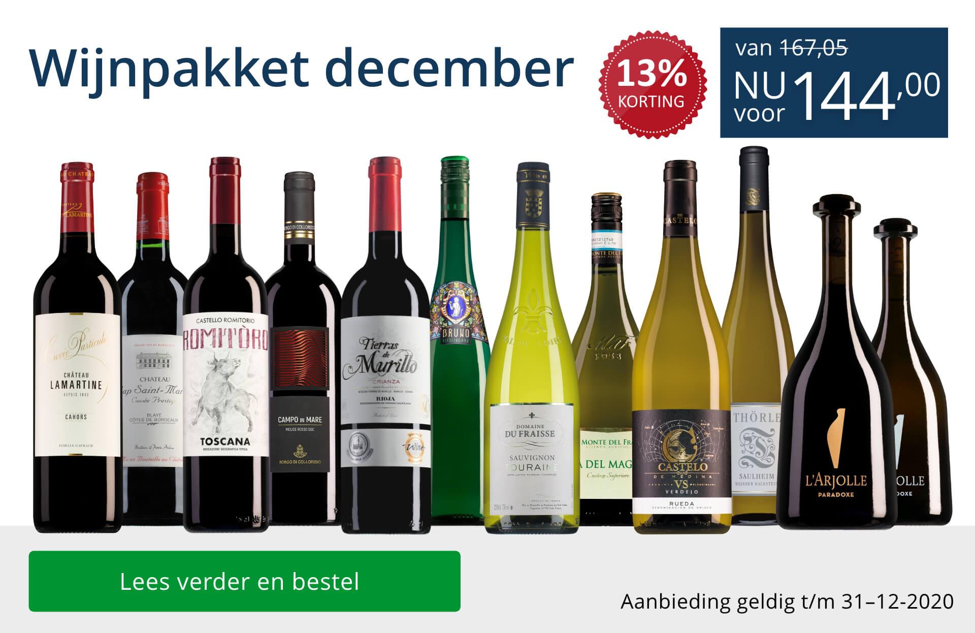 Wijnpakket wijnbericht december 2020 (144,00) - blauw
