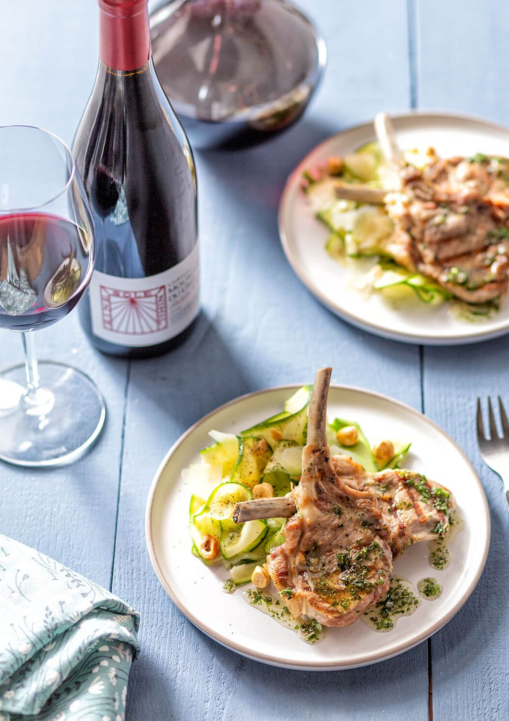 Provençaalse lamskoteletten met courgettesalade