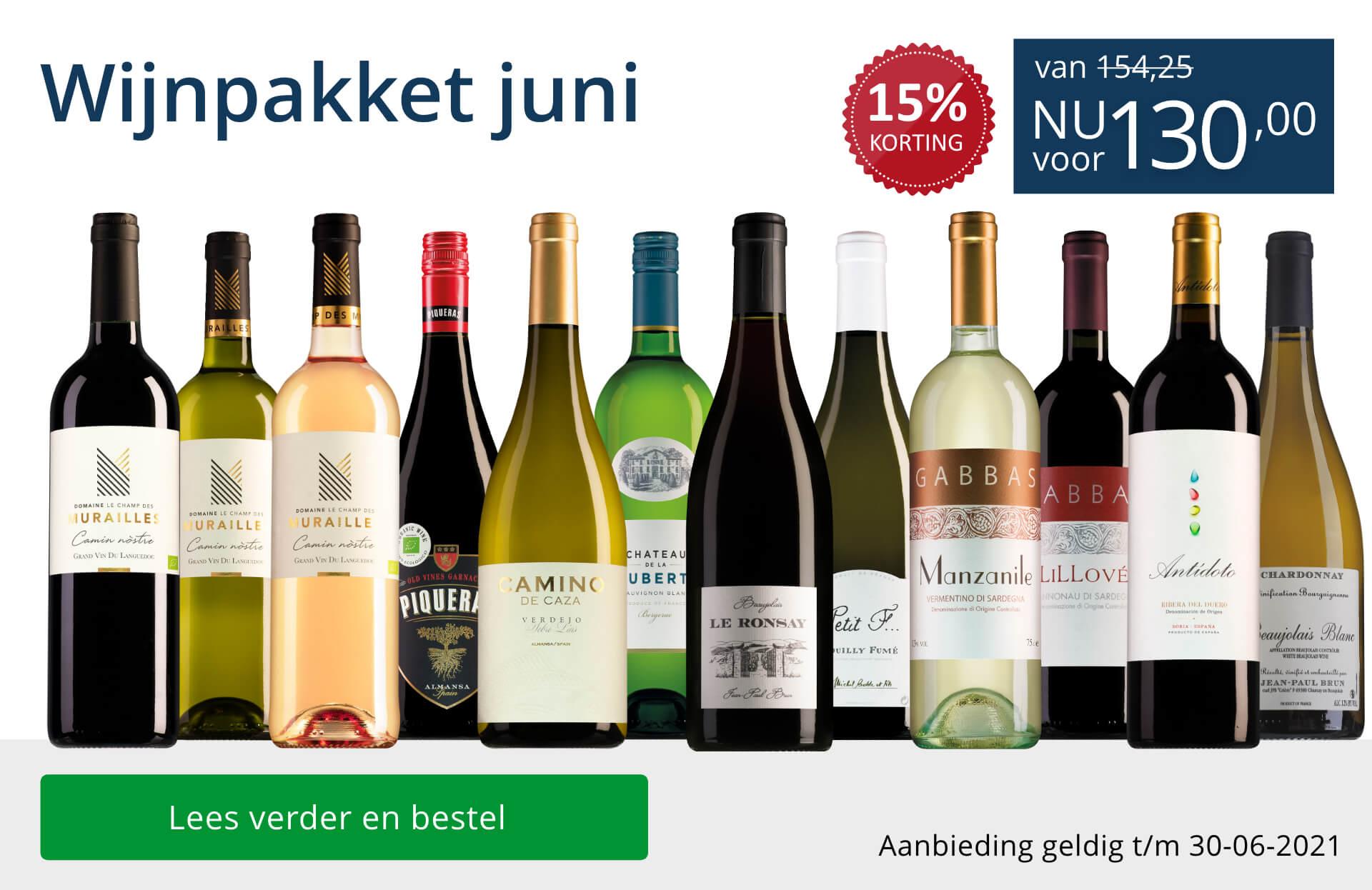 Wijnpakket wijnbericht juni 2021(130,00) - blauw