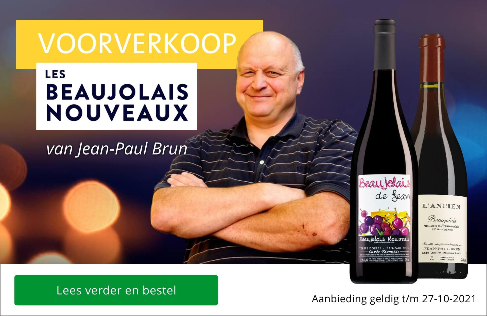 Voorverkoop Beaujolais Nouveaux 2021 van Jean-Paul Brun